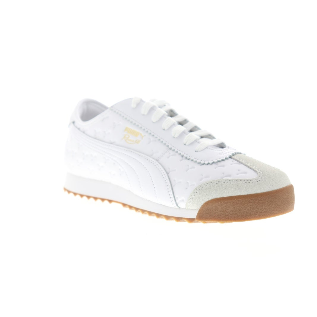 Puma Roma 68 Gum White White Mens Low Top Sneakers