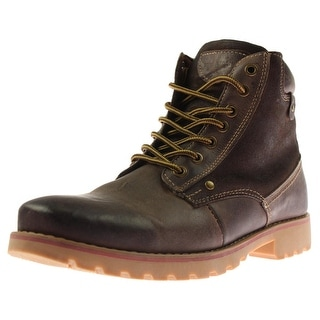 Steve Madden Mens Cannter Leather Lace Up Ankle Boots - 11.5 medium (d)