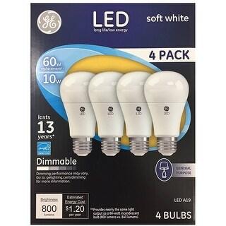 GE 67615 Medium Base LED Light Bulb, Soft White, 10.5 Watt, 800 Lumens