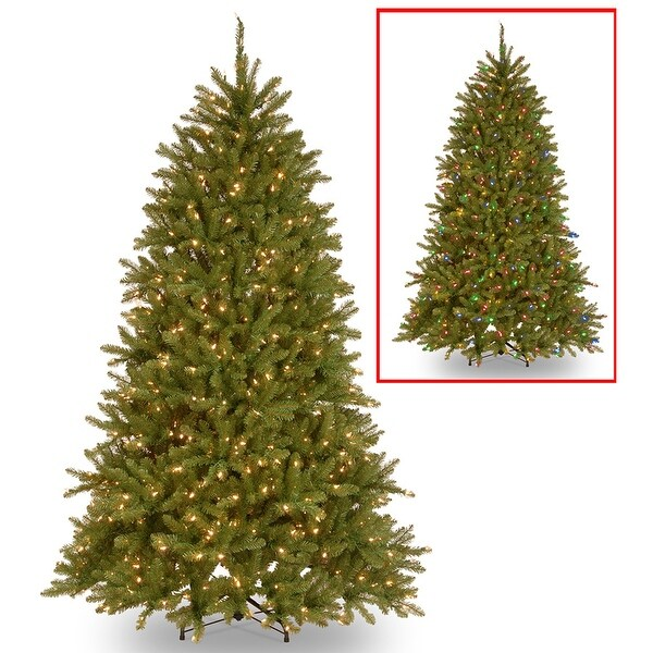 Shop 6.5' Pre-Lit Dunhill Fir Artificial Christmas Tree – Multi-Color/Warm  White LED Lights - green - Free Shipping Today - Overstock.com - 24267503 - Shop 6.5' Pre-Lit Dunhill Fir Artificial Christmas Tree €� Multi
