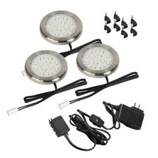 AmerTac LSP30KBAMCC Lighting Accent Led Nickel 3 Pack