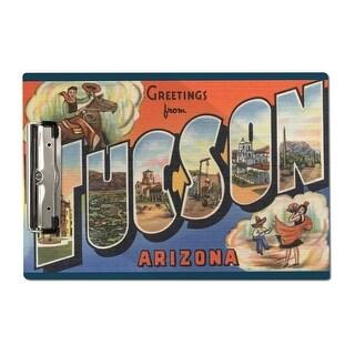 Tucson, Arizona - Large Letter Scenes (Acrylic Clipboard)