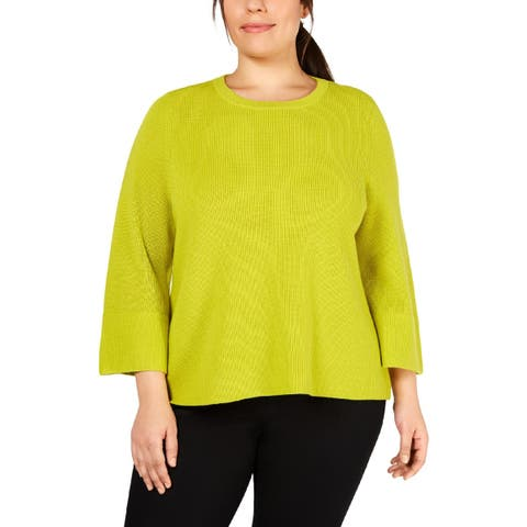 Eileen Fisher Womens Plus Pullover Sweater Wool Ribbed - 2X