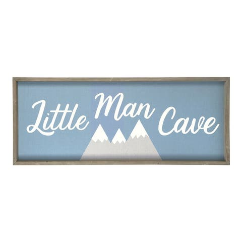 Stratton Home Decor Little Man Cave Wall Art - 40.00 X 1.50 X 16.00