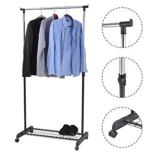 Costway Adjustable Rolling Garment Rack Heavy Duty Clothes Hanger w/ Shoe Rack Portable|https://ak1.ostkcdn.com/images/products/is/images/direct/42c2cbc21aa6cd8a81579cf952c984abbca23c82/Costway-Adjustable-Rolling-Garment-Rack-Heavy-Duty-Clothes-Hanger-w--Shoe-Rack-Portable.jpg?impolicy=medium