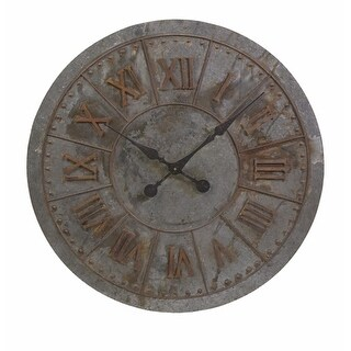 "32"" Distressed Oversize Industrial Style Roman Numeral Display Wall Clock"