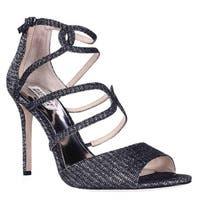 Badgley Mischka Devon Strappy Peep Toe Dress Sandals, Black - 9 us