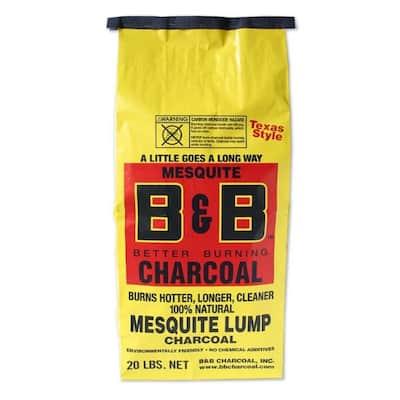 B&B Charcoal All Natural Mesquite Lump Charcoal 20 lb.