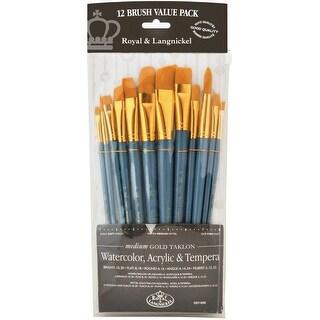 Golden Taklon Angular Variety Pack Brush Set-12/Pkg