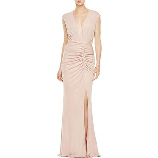 ABS by Allen Schwartz Womens Evening Dress Matte Jersey Ruched