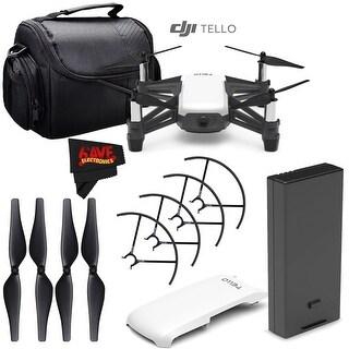 Ryze Tech Tello Quadcopter #CP.PT.00000252.01 + Carrying Case + MicroFiber Cloth Bundle