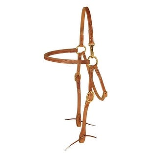 Berlin Custom Leather Headstall Hermann Oak Mule Snap At Crown