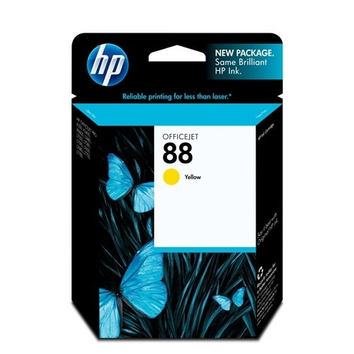 HP 88 Yellow Original Ink Cartridge (C9388AN) (Single Pack)