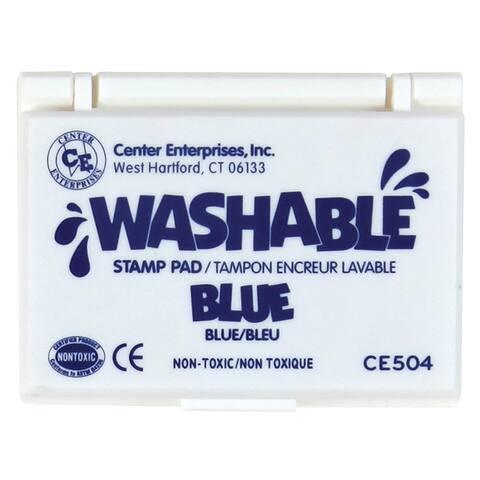 Center enterprises (6 ea) stamp pad washable blue 504bn
