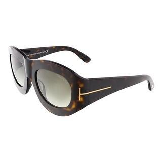 Tom Ford FT0403/S 56B MILA Dark Havana Oval sunglasses - Dark Havana - 53-23-130