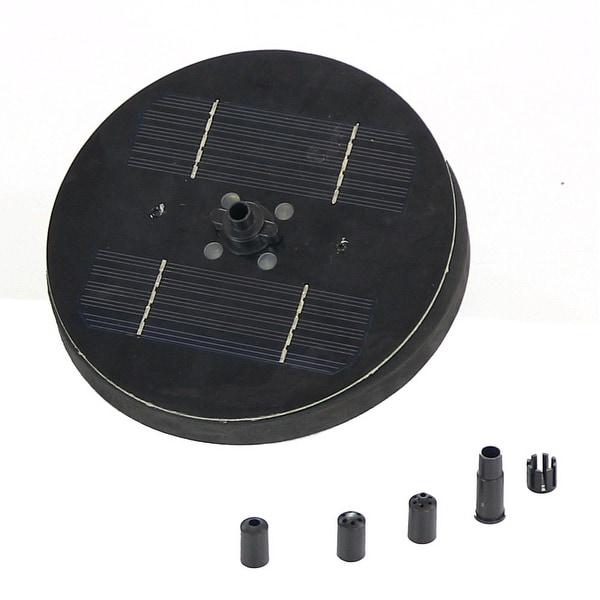 Sunnydaze Solar Pond or Birdbath Pump, 7 Inch Diameter - Black