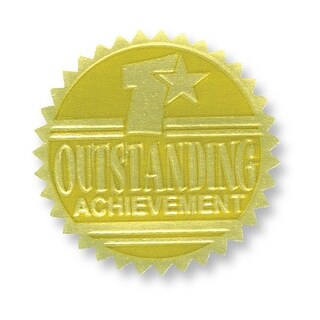 Gold Foil Embossed Seals Outstanding Achievement