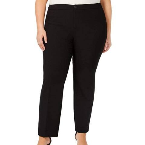 Charter Club Womens Dress Pants Black Size 20W Plus Straight Leg Stretch