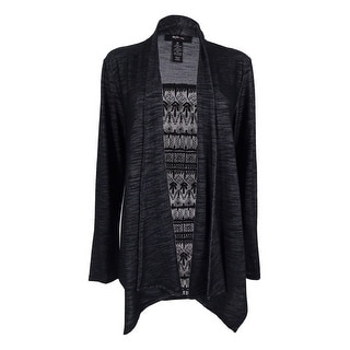Style & Co. Women's Drape Front Lace Back Cardigan
