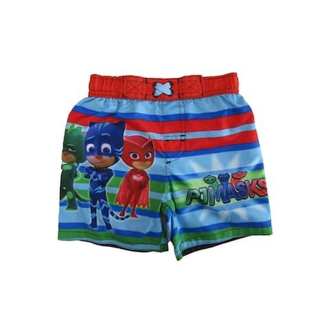 Disney Little Boys Multicolor Pj Mask Swim Shorts