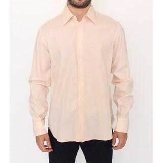 Ermanno Scervino Ermanno Scervino Orange Cotton Striped Casual Shirt Top - it50-l