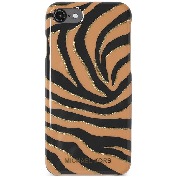 Michael Kors Striped Glitter Plastic iPhone 7 Snap-On Case - One size