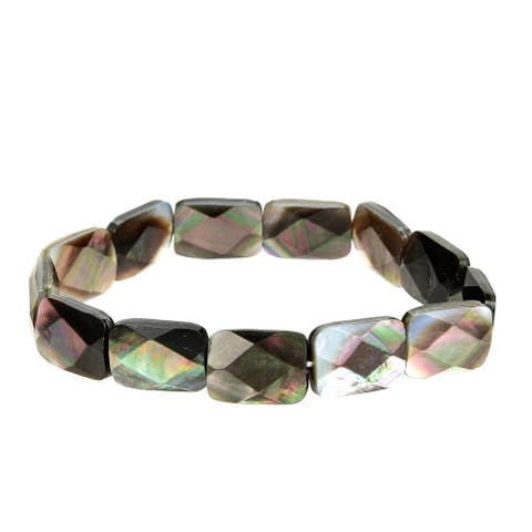 Black Shell Stretch Bracelet