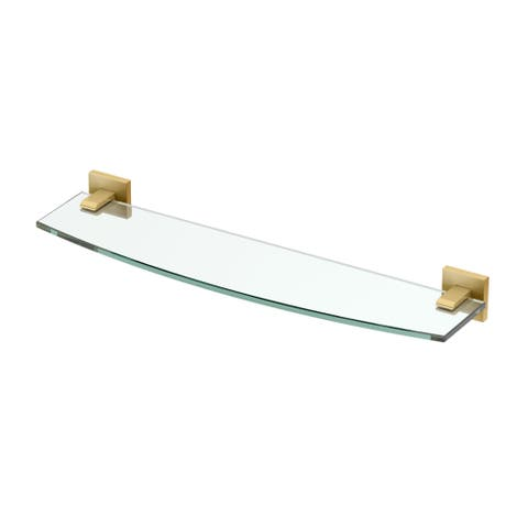 "Gatco 4056 Elevate 20-1/5"" Curved Glass Shelf"