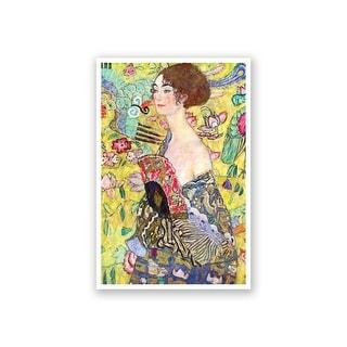 Lady with A Fan - Gustav Klimt Fine Art Collections Matte Poster 16x24