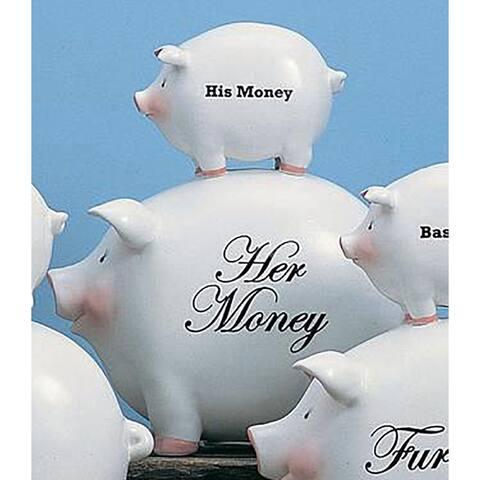 Ceramic His/Her Piggy Bank