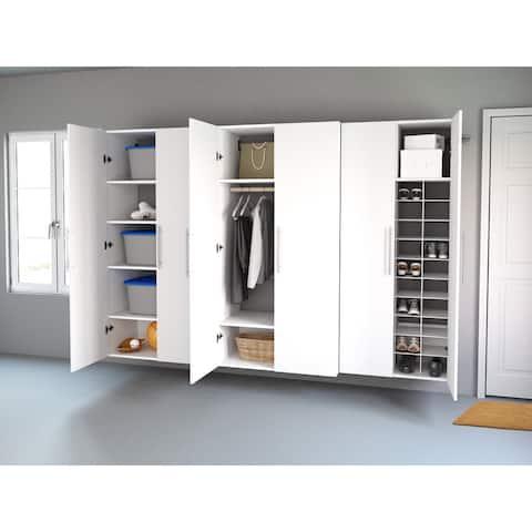 "Prepac HangUps 102-inch 3-piece Storage Cabinet Set L - 102"" W x 72"" H x 16"" D"