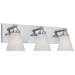 Designers Fountain 6493 Contemporary Three Light 300W Bathroom Wall Fixture from the Hudson Collection