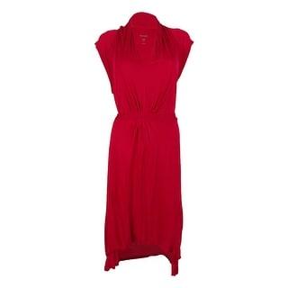 Kensie Women's Cap Sleeve Hi-Low Dress