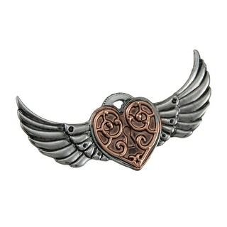 Anne Stokes Engineerium Valkyrie Heart Steampunk Brooch
