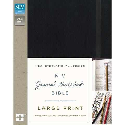 Niv Journal The Word Bible-Large Print, Black