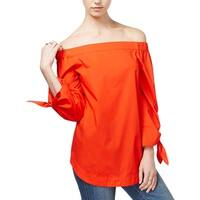 Free People Womens Pullover Top Oversized Smocked
