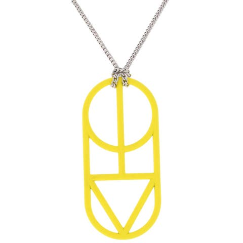 Marc by Marc Jacobs Womens Man Power Pendant Necklace Fashion Jewelry - Disco Yellow - O/S