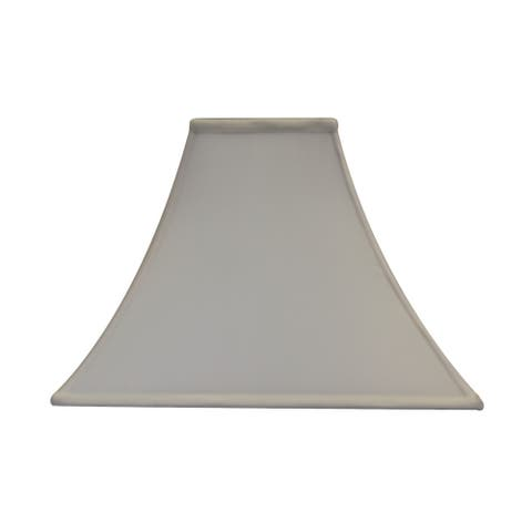 Square Flare Soft Back with Piping Lamp Shade 6x16x12 Ecru Poly Dolan Designs