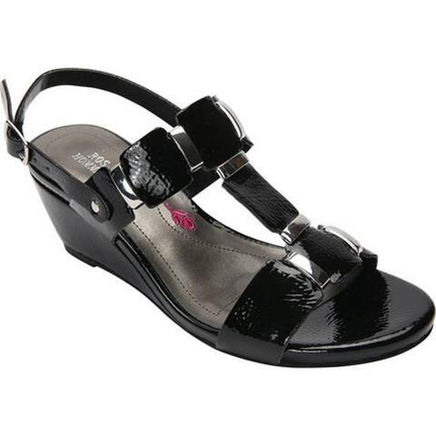 Ros Hommerson Women's Willow Sandal Black Patent Polyurethane