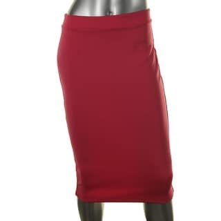 Halogen Womens Petites Fitted Knee-Length Pencil Skirt - 2p