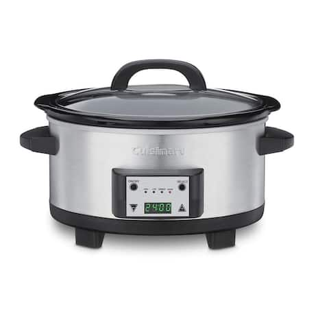 Cuisinart PSC-625FR 6.5-Quart Programmable Slow Cooker, Silver, Certified Refurbished