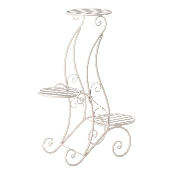 New Arriving Curlicue Design 3-Tier Plant Stand