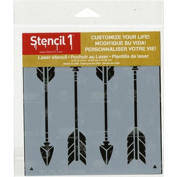 """Stencil1 6""""X6"""" Stencil-Arrows Repeat"""
