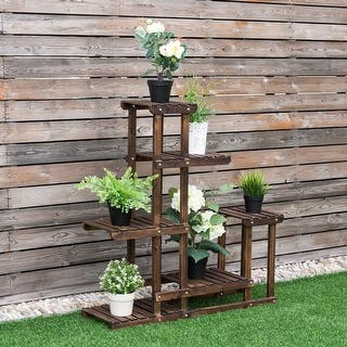 Costway Outdoor Wooden Plant Flower Display Stand 6 Wood Shelf Storage Rack Garden|https://ak1.ostkcdn.com/images/products/is/images/direct/42d1e13b81b93d9c456795ccc5d0d79e568161a2/Costway-Outdoor-Wooden-Plant-Flower-Display-Stand-6-Wood-Shelf-Storage-Rack-Garden.jpg?impolicy=medium