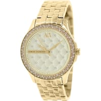 Armani Exchange Women's  Gold Stainless-Steel Plated Fashion Watch