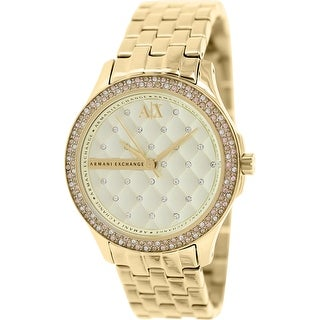 Armani Exchange Women's AX5216 Gold Stainless-Steel Plated Fashion Watch