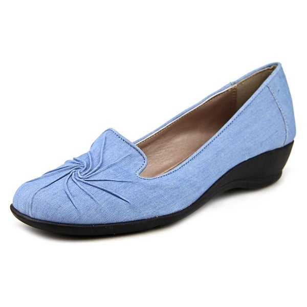 Soft Style by Hush Puppies Rogan Women N/S Round Toe Canvas Blue Loafer