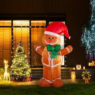 Link to Glitzhome 8'H Lighted Inflatable Decor Similar Items in Christmas Decorations