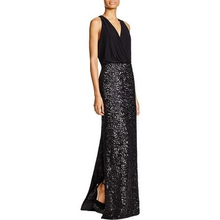 Aidan by Aidan Mattox Womens Formal Dress V-Neck Sequined