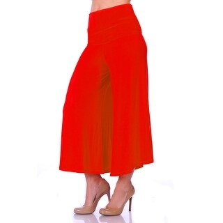 Simply Ravishing Women's Knit Capri Culottes Pants (Size S-5X)